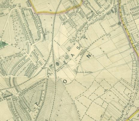 Stanford Library Map of London 1862-1871 Herne Hill section