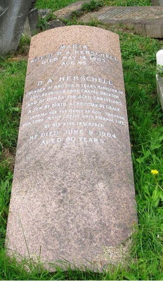 Rev David A & Maria Herschell gravestone in Norwood Cemetary Photo by Philip Walker www.jewisheastend