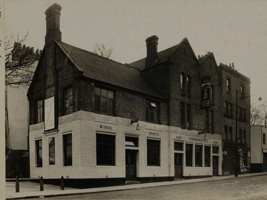 The Fox Under the Hill, 119 Denmark Hill  1925-1955 National Brewery Heritage Trust part of a Charrington Surveyors