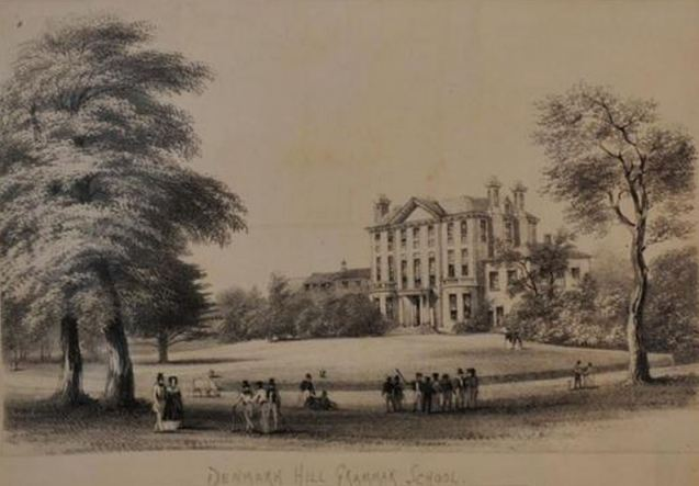 Denmark Hill Grammar School new c 1855 view form the east