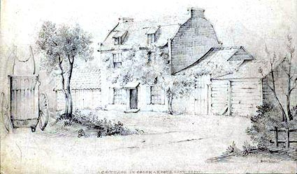 Coldharbour Lane cottage (date unknown) H.M Wooler LL