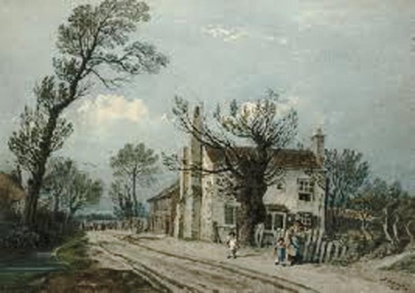 untitled John Varley Coldharbour Lane , 1817 pencil and watercolour scanned and enlarged