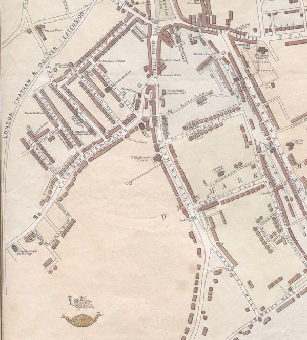 Camberwell and Peckham, Suburbs of London,sheet 5, Edward Weller for the Weekly Dispatch, British Library 1865