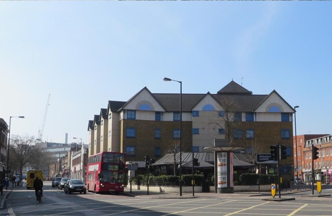 Junction of Coldharbour Lane and Denmark Hill , April 2015 Nick Stevens