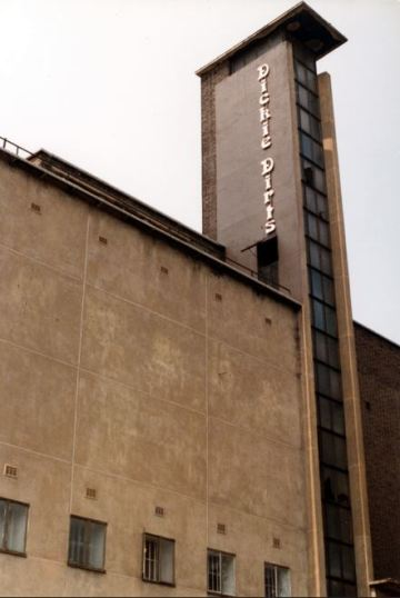 Odeon Camberwell Dickie Dirts logo on Tower