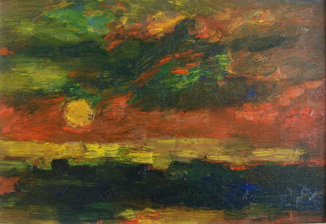 Sunset over Ruskin Park, Winter c.1968 Albert Houthuesen