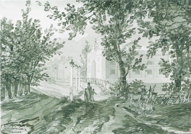 Camberwell Chapel x c1796 WJ Zincke from Manning and Bray of 1814
