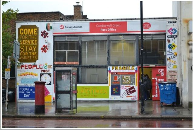 Camberwell Green Post Office , photo by Robin Scott in 201