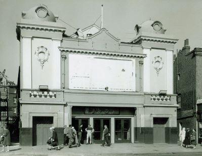 Essoldo Cinema, August 1964 formerly Golden Domes, now supermarket