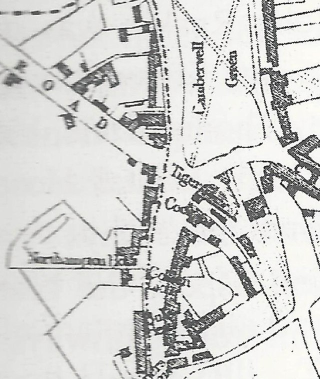extract from 1842 Map of Camberwell by J Dewhirst
