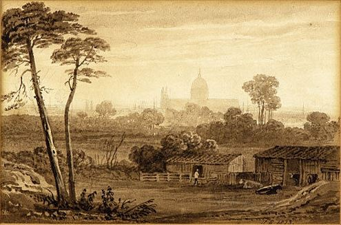 Henry Gastineau St Paul's from Greenwich, 1823