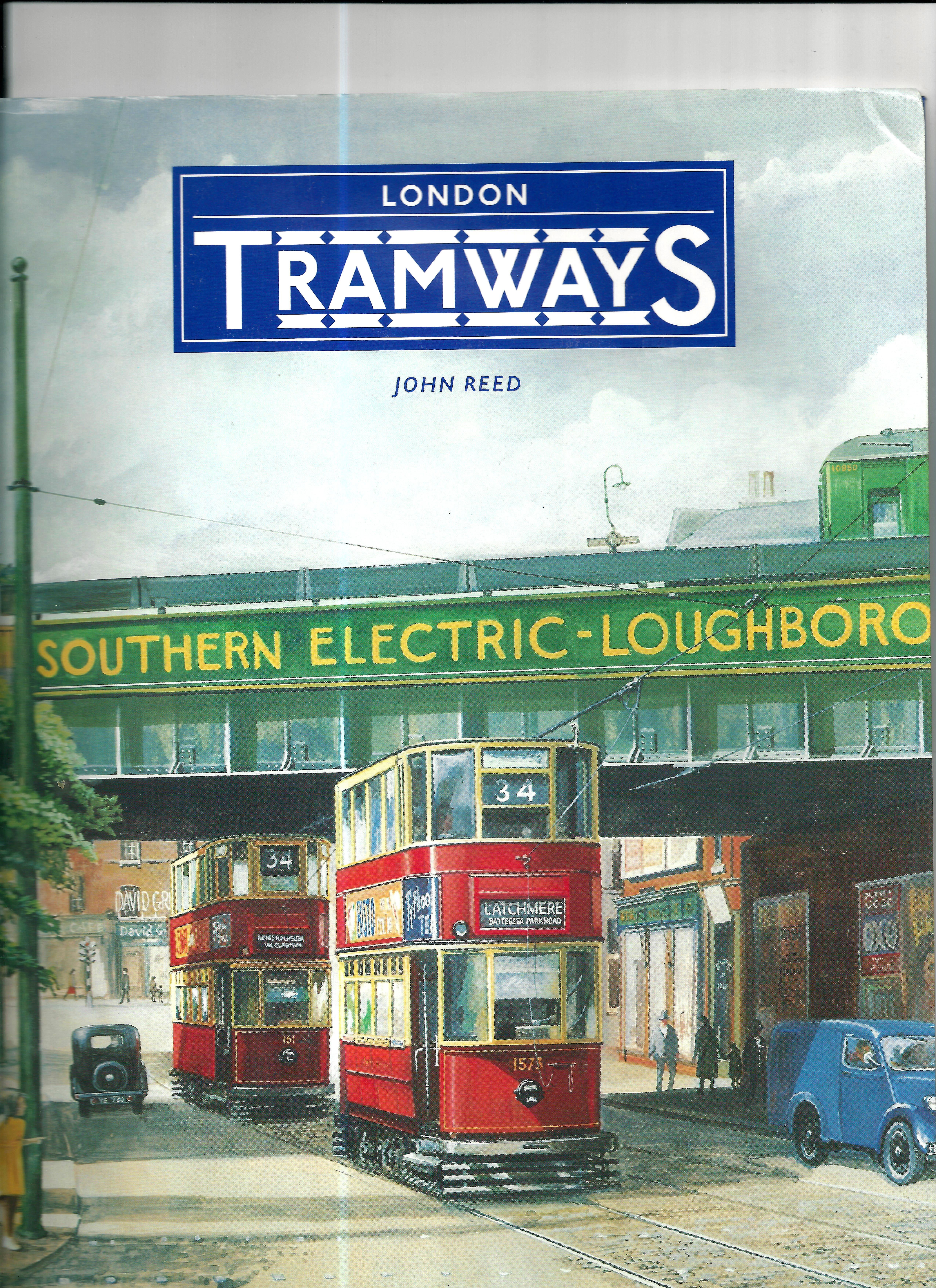 Trams on Coldharbour Lane, by Loughborough Junction by John Re