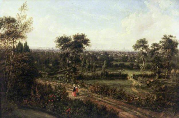 A Panaramic View Of london from Denmark Hill Alexander Nasmyth Hackney Museum YES