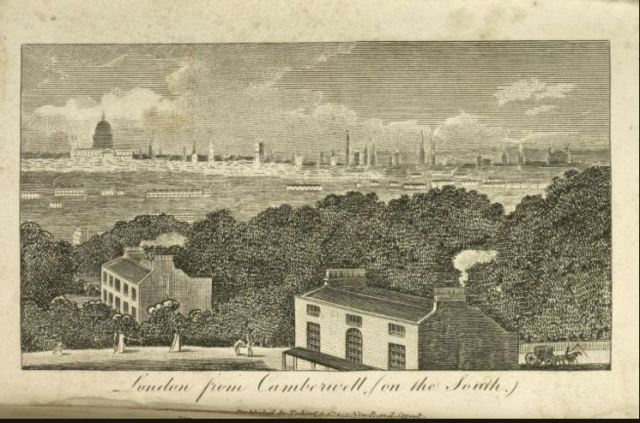 London from Camberwell on the South, 1808 Tabart & Co