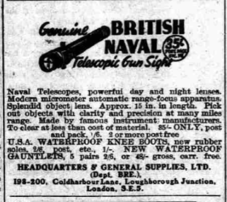 Headquarters & General Supplies Brechin Advertiser 14 Sept 1948