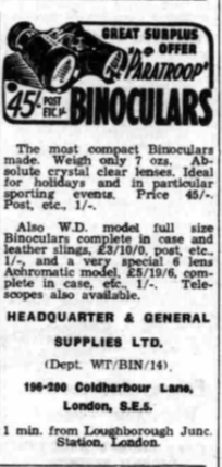 Headquarters & General Supplies Whitstable Times & Harne Bay Herald 14 Oct 1947