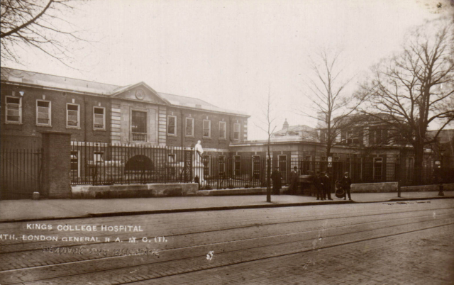 Denmark Hill near Camberwell. 4th London General WWHospital, RAMC(T). Group. W Greening DH C1915