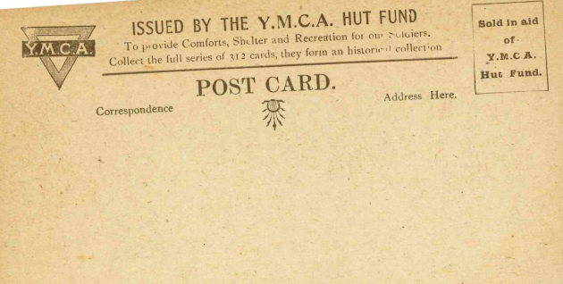 The YMCA Hut fund postcard