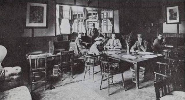 YMCA Hut Camberwell Green 1917 inside