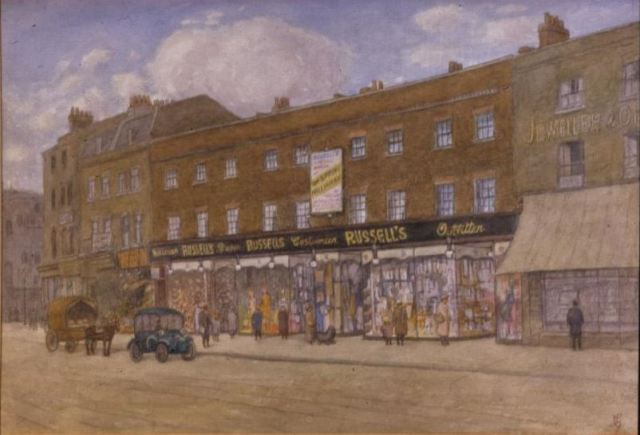 Russell's Outfitters Denmark Hill 1920s attributed to L.G. Southwark GA1091