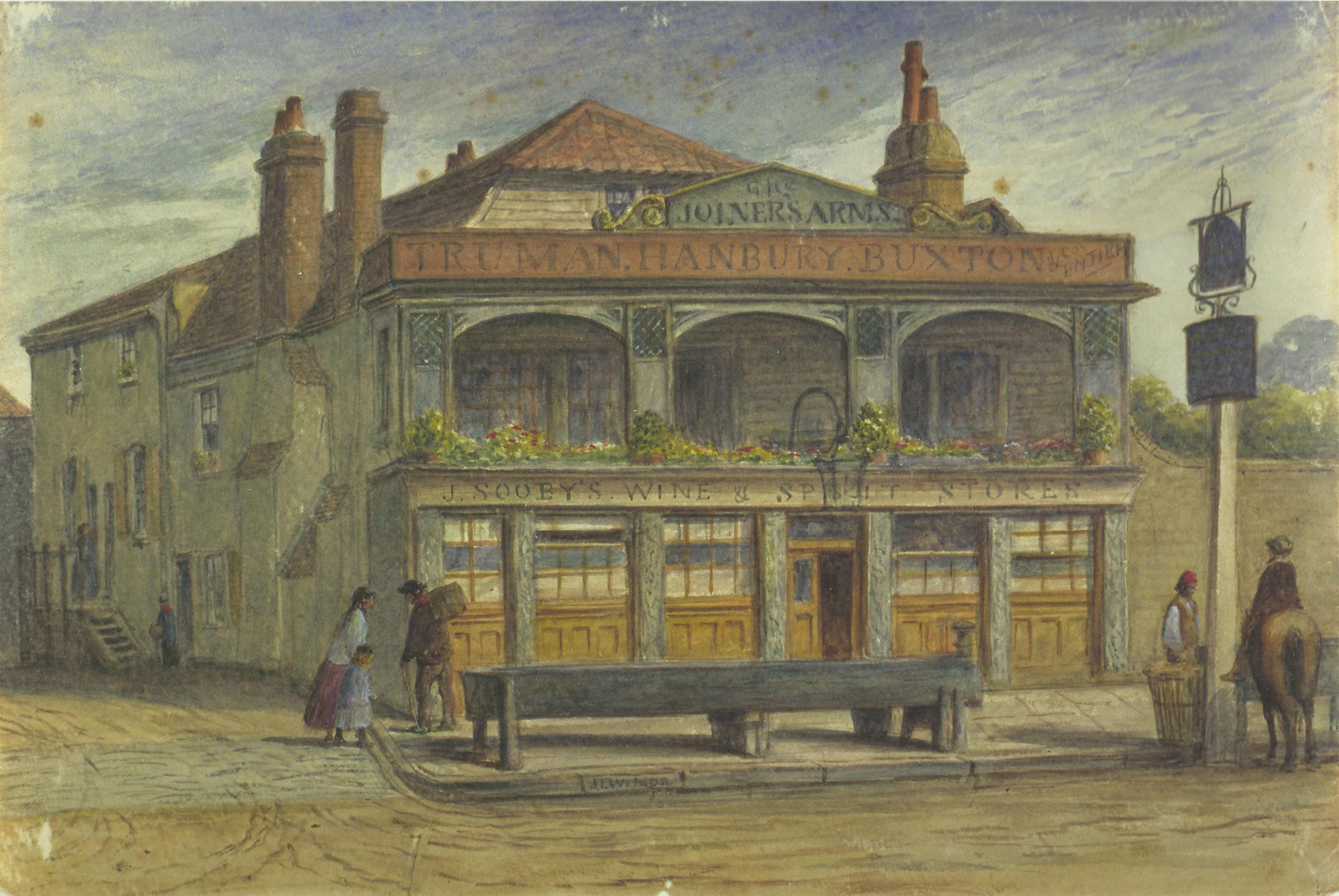 Joiners' Arms Inn by JT Wilson City, 1850, City of London Metropolitan Archives