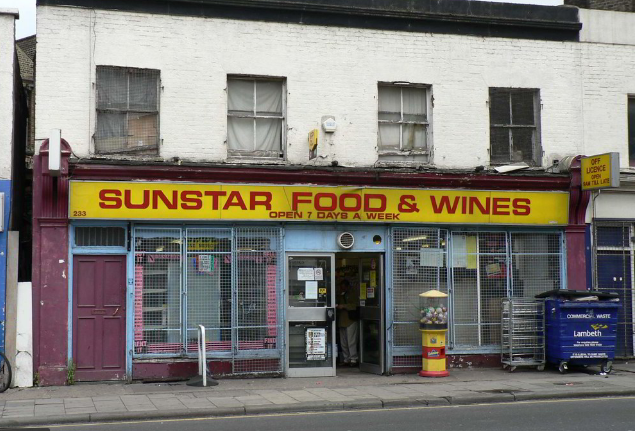 Sunstar Food and Wines, 233 Coldharbour Lane