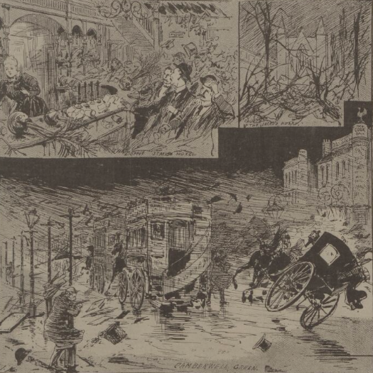 Drawings of The Great Hurricane at Camberwell
