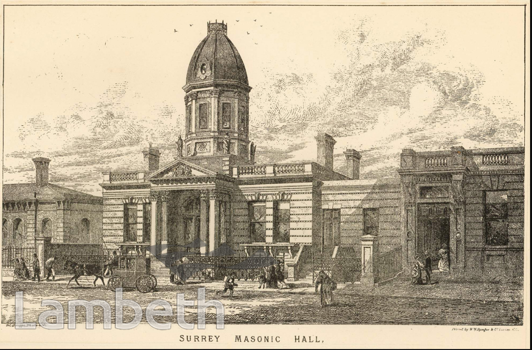 Surrey Masonic Hall, Camberwell New Road, Lambeth Archives