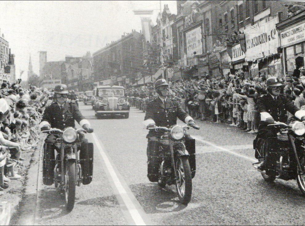 Denmark Hill 9th June 1953 Queen Elizabeth 11 coronation drive