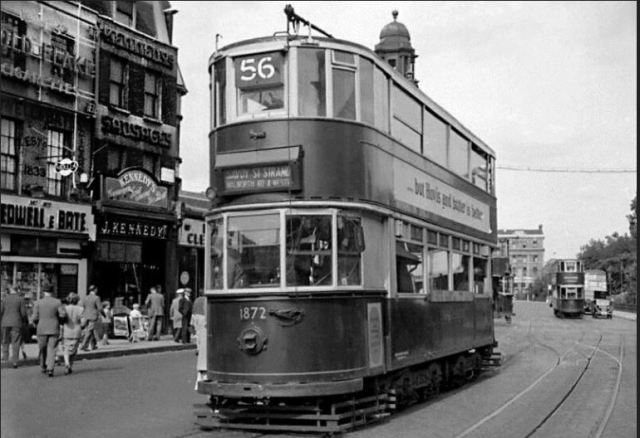 Denmark Hill Tram Route 56 ceased Oct 1951, Bedwell & Bate, Kennedys Sausages